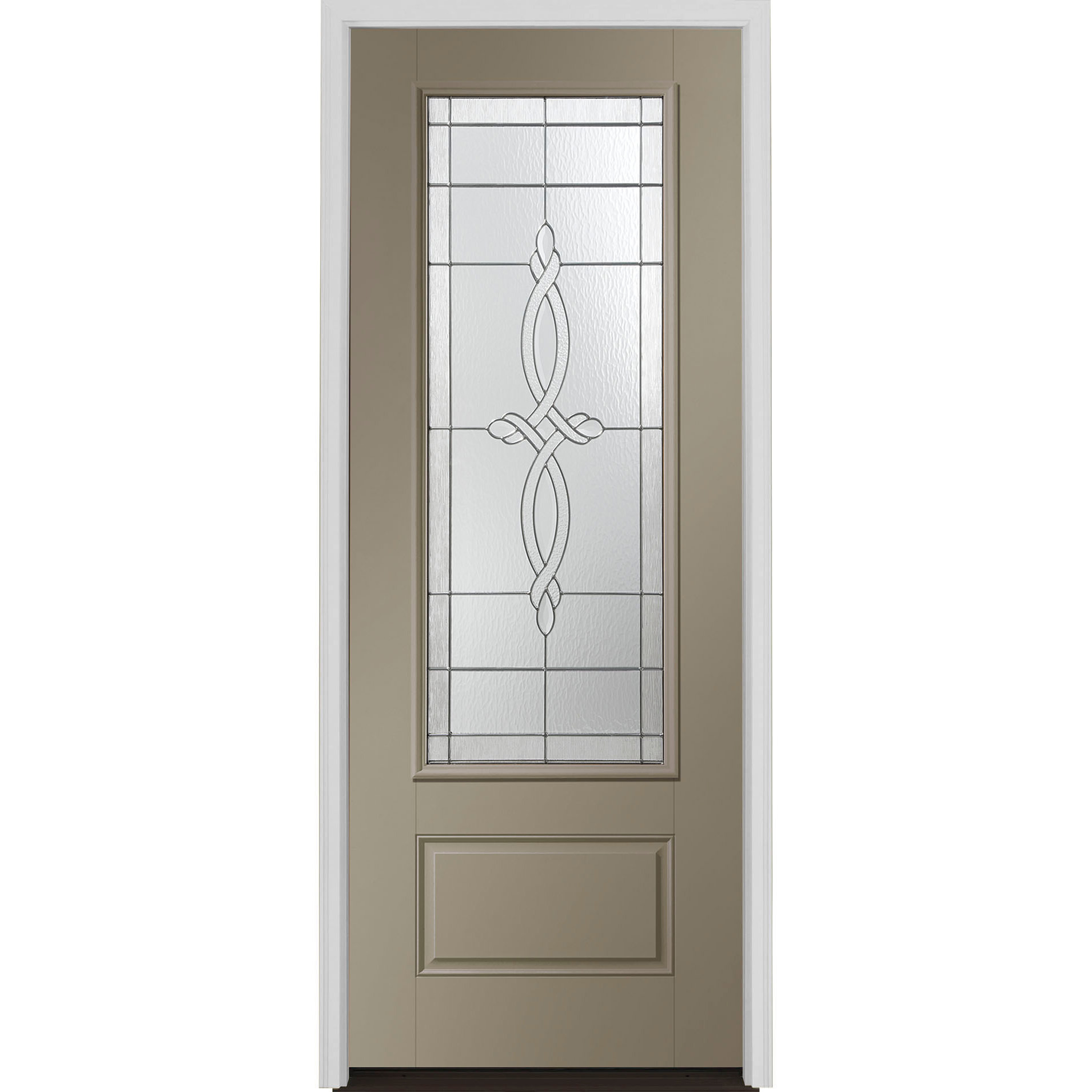 Encompass by Pella European 3/4 Light Entry Door with Glass